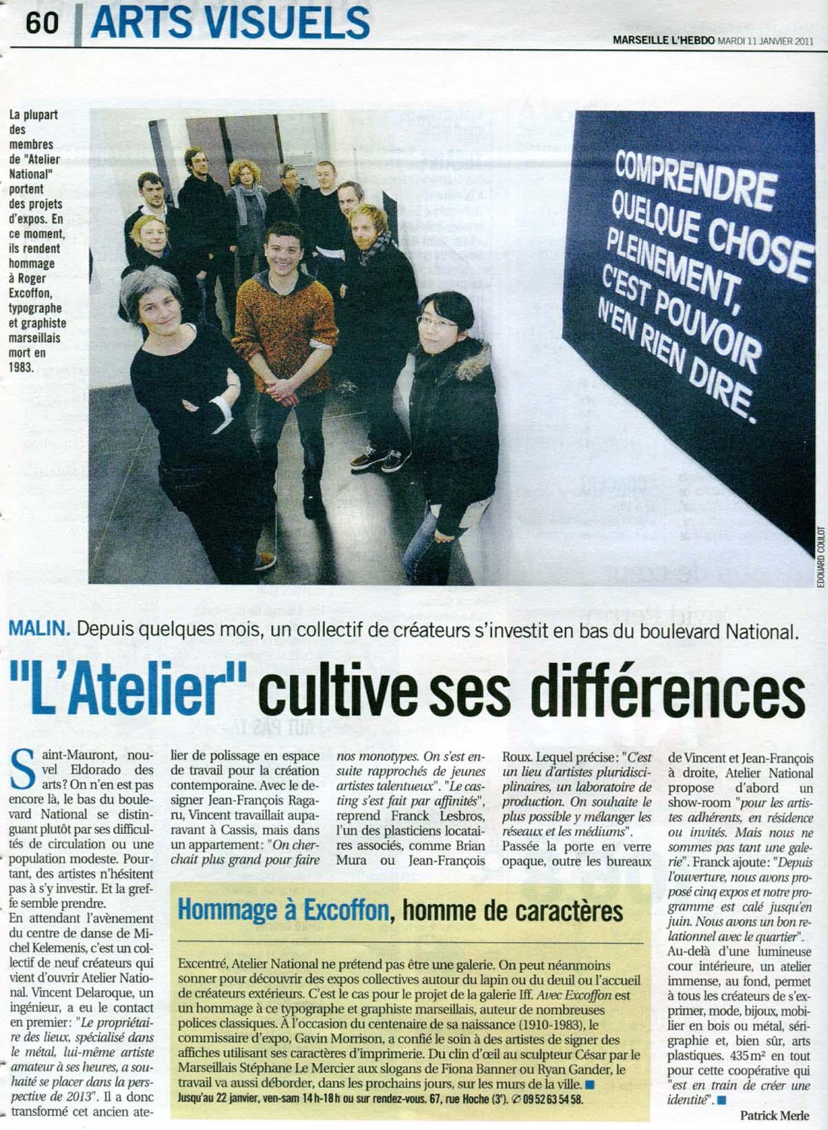 Marseille L'hebbdo & AtelieRnaTional